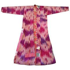 "Antique Silk Ikat Robe ""Chapan"""