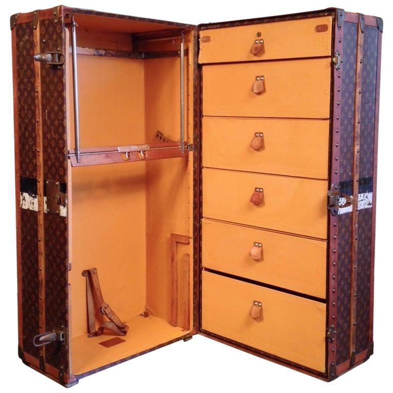 Louis Vuitton Upright Wardrobe Trunk At 1stdibs