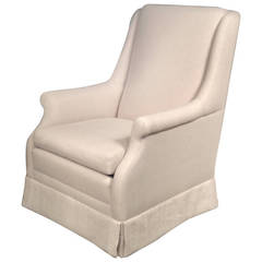 Club Chair Upholstered In Linen