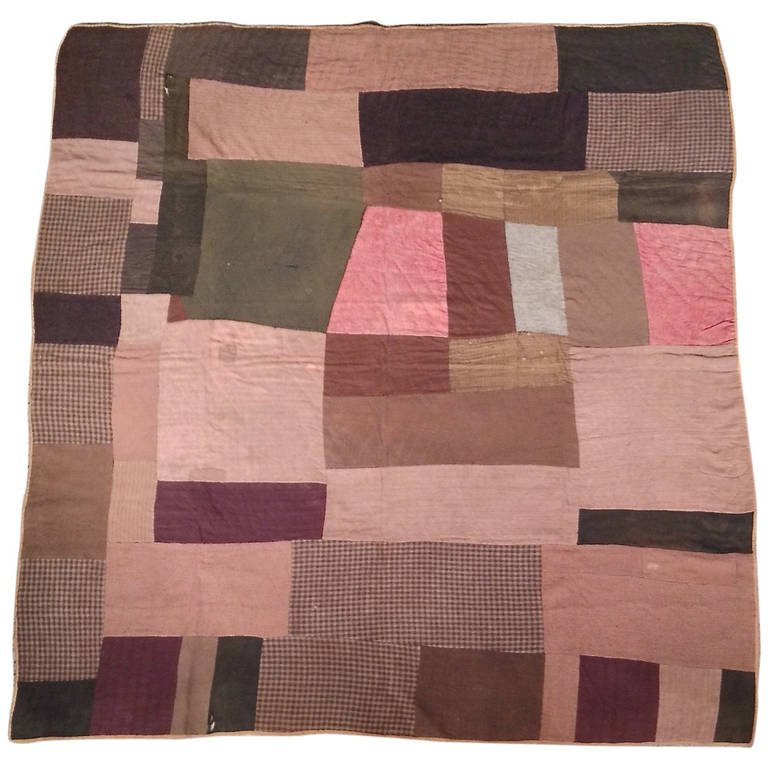 19th Century Early American Quilt At 1stdibs