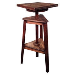 French Oak Sculptor's Stand/ Table with Revolving Top