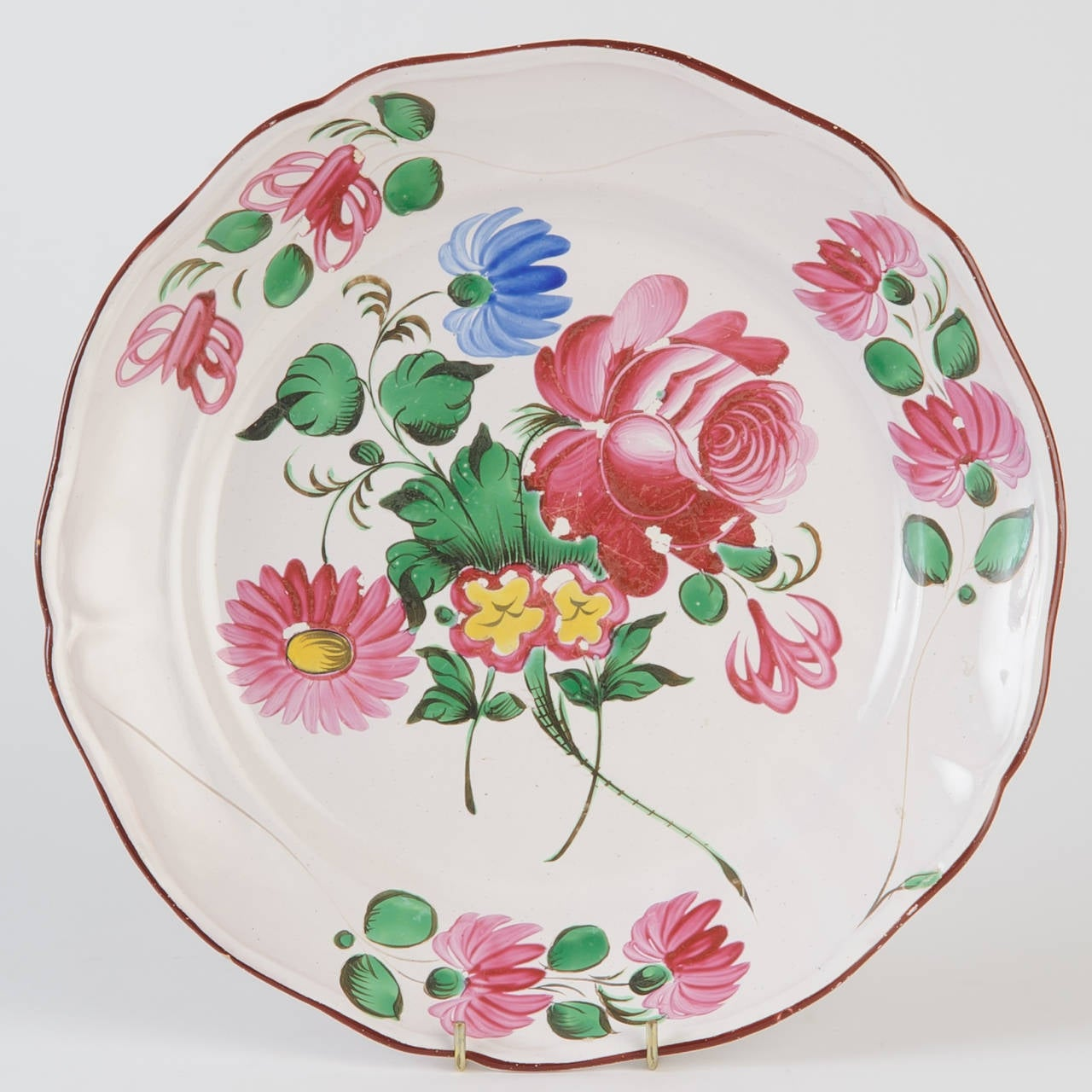 18th C French Faience Plates For Sale At 1stdibs
