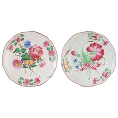 18th C French Faience Plates, Pair