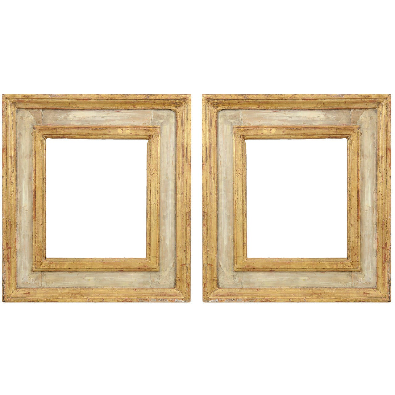 Pair of Renaissance Gilt and Paint Italian Wood Frames For Sale at ...
