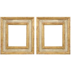 Pair of Renaissance Gilt and Paint Italian Wood Frames