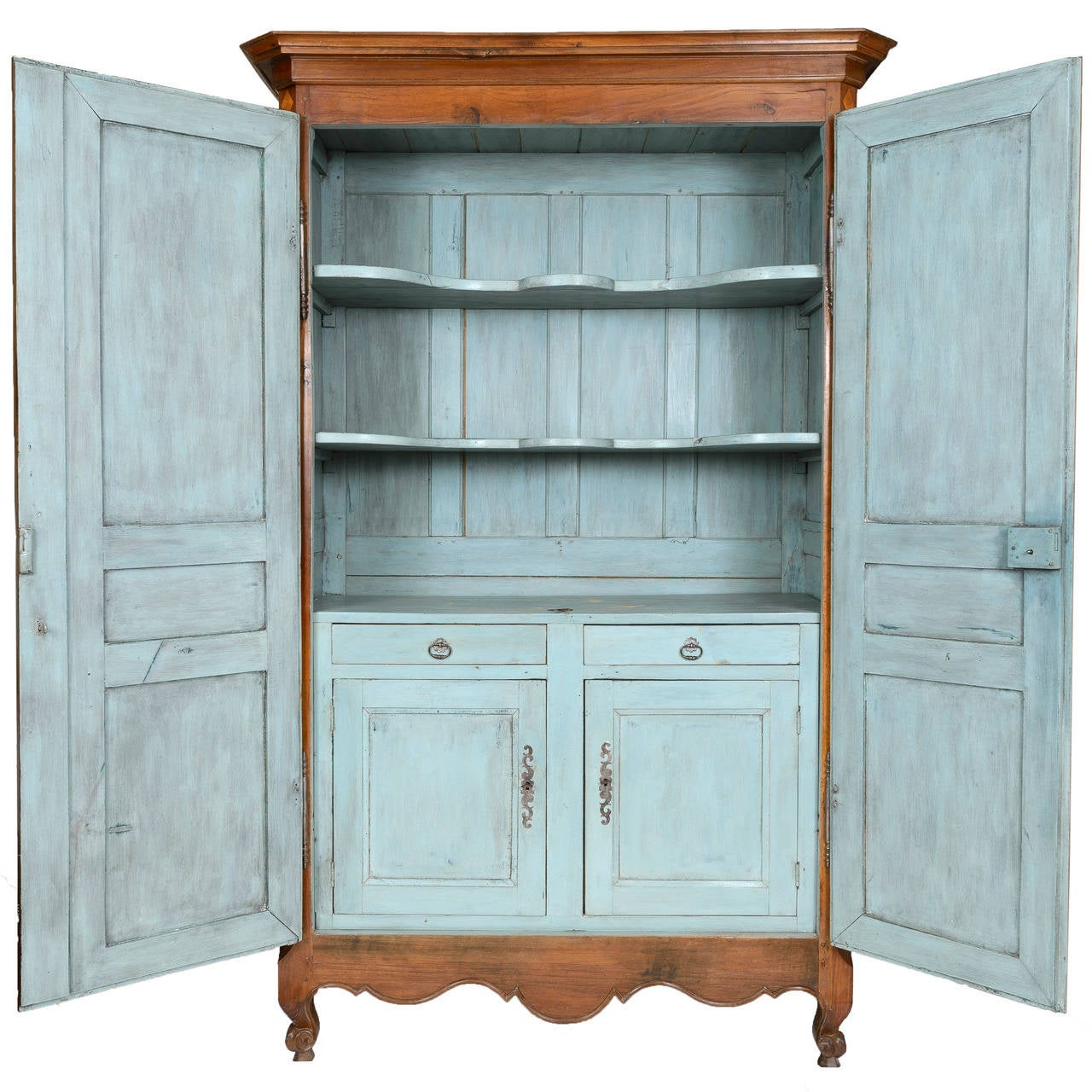 Exceptional Louis XVI Armoire From Bordeaux With Painted Interior Cabinet  For Sale