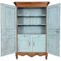 Exceptional Louis XVI Armoire from Bordeaux with Painted Interior Cabinet