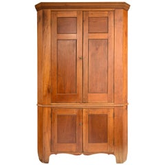 19th Century American Corner Cupboard