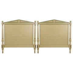 Pair of Directoire Beds with Matching Headboard and Footboard