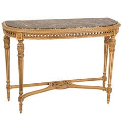 Louis XVI Style Console with Marble Top