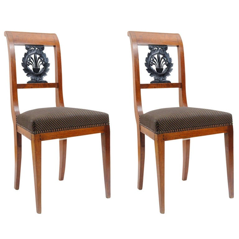 Furniture Repair Louisville Ky Pair of Empire Side Chairs For Sale at 1stdibs