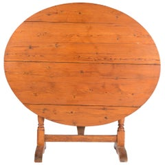 19th Century French Wine Tasting Table