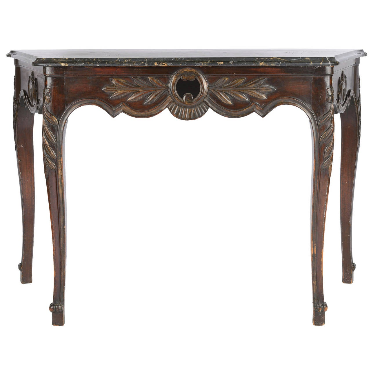 18th Century Louis XV Console Table with Black Marble Top For Sale ...