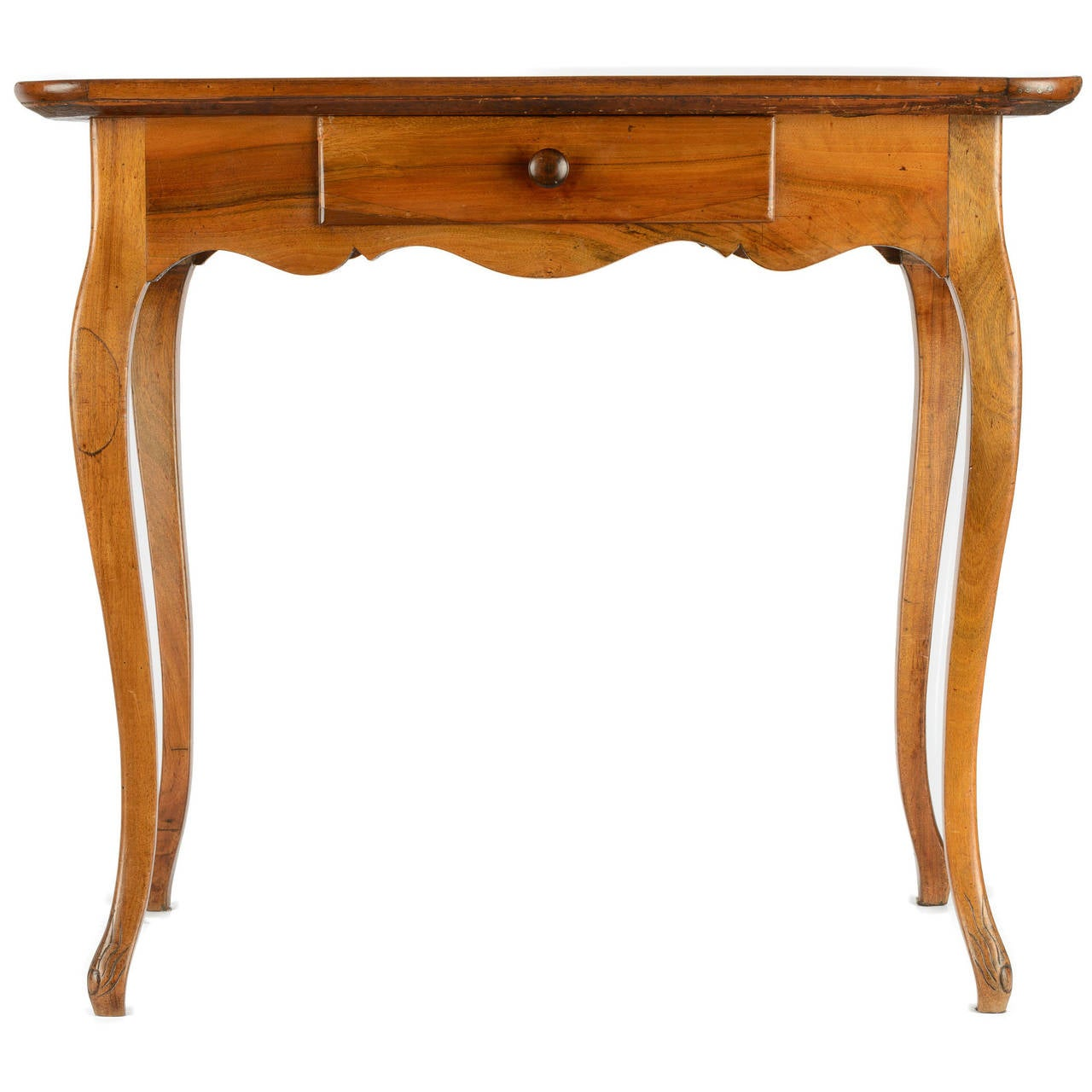 Louis xv style side table with marquetry top for sale at
