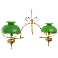19th Century French Billiard Table Hanging Lamp