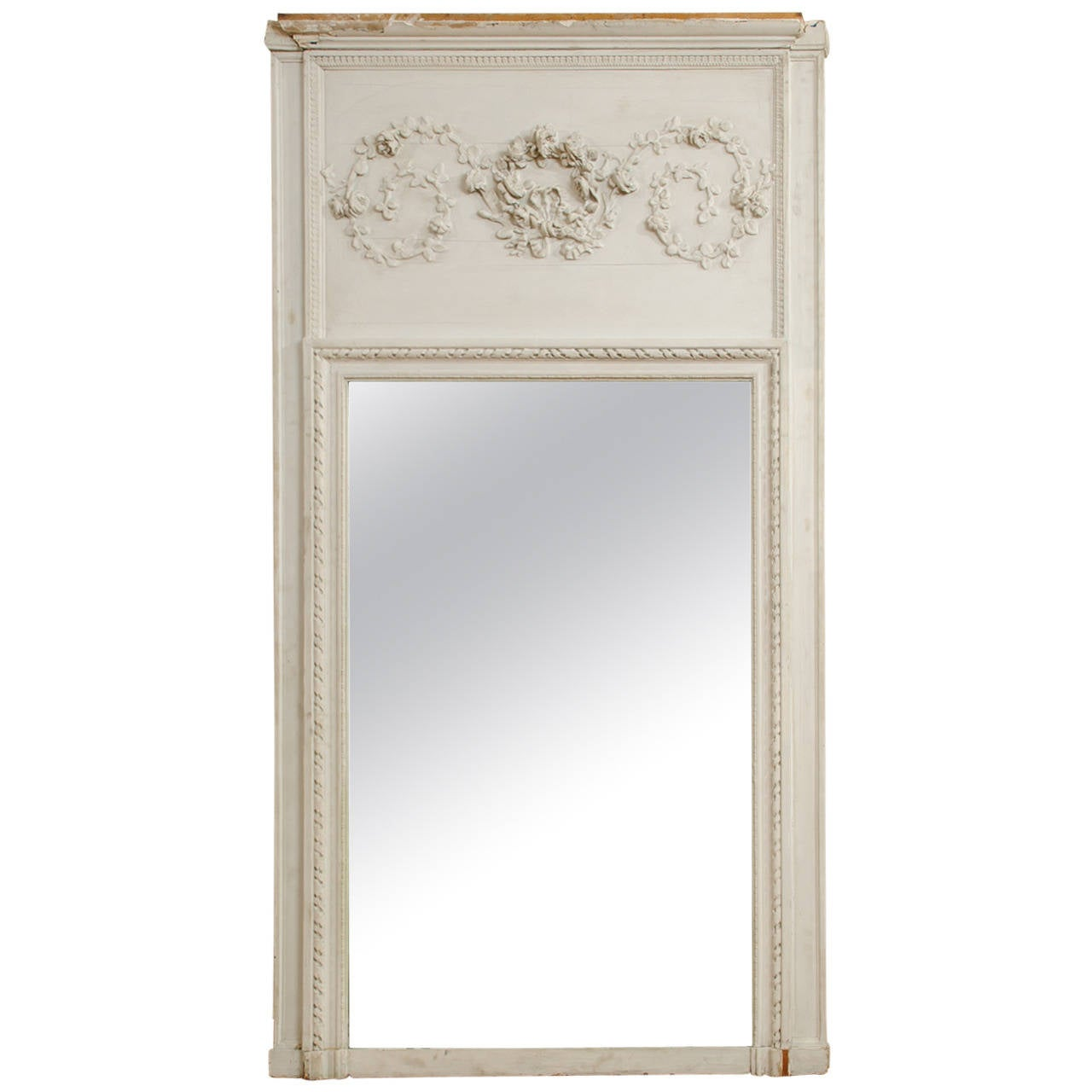 8th century louis xvi trumeau mirror 2 france for sale at 1stdibs. Black Bedroom Furniture Sets. Home Design Ideas