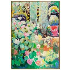 Painting, Provence Garden by Jef De Panthou