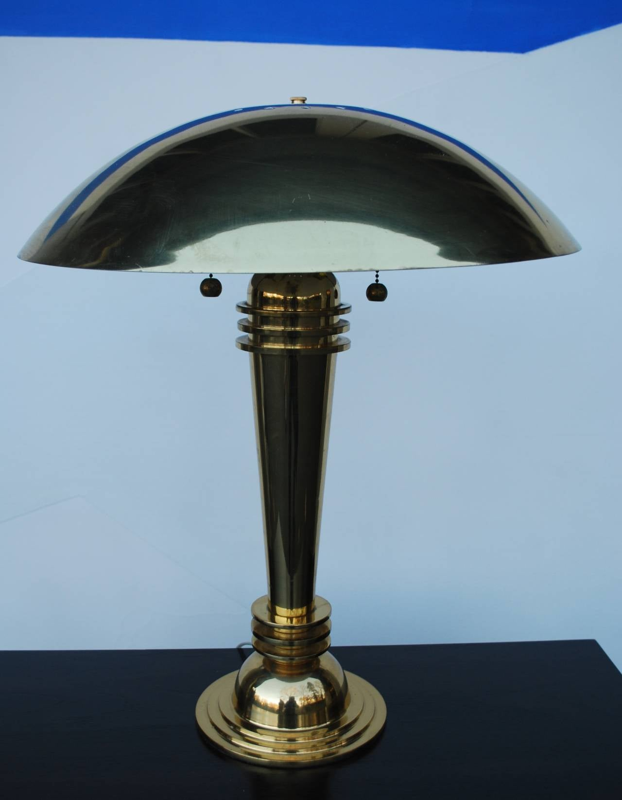 Pair of art deco style brass table lamps at 1stdibs for Art deco style lamp