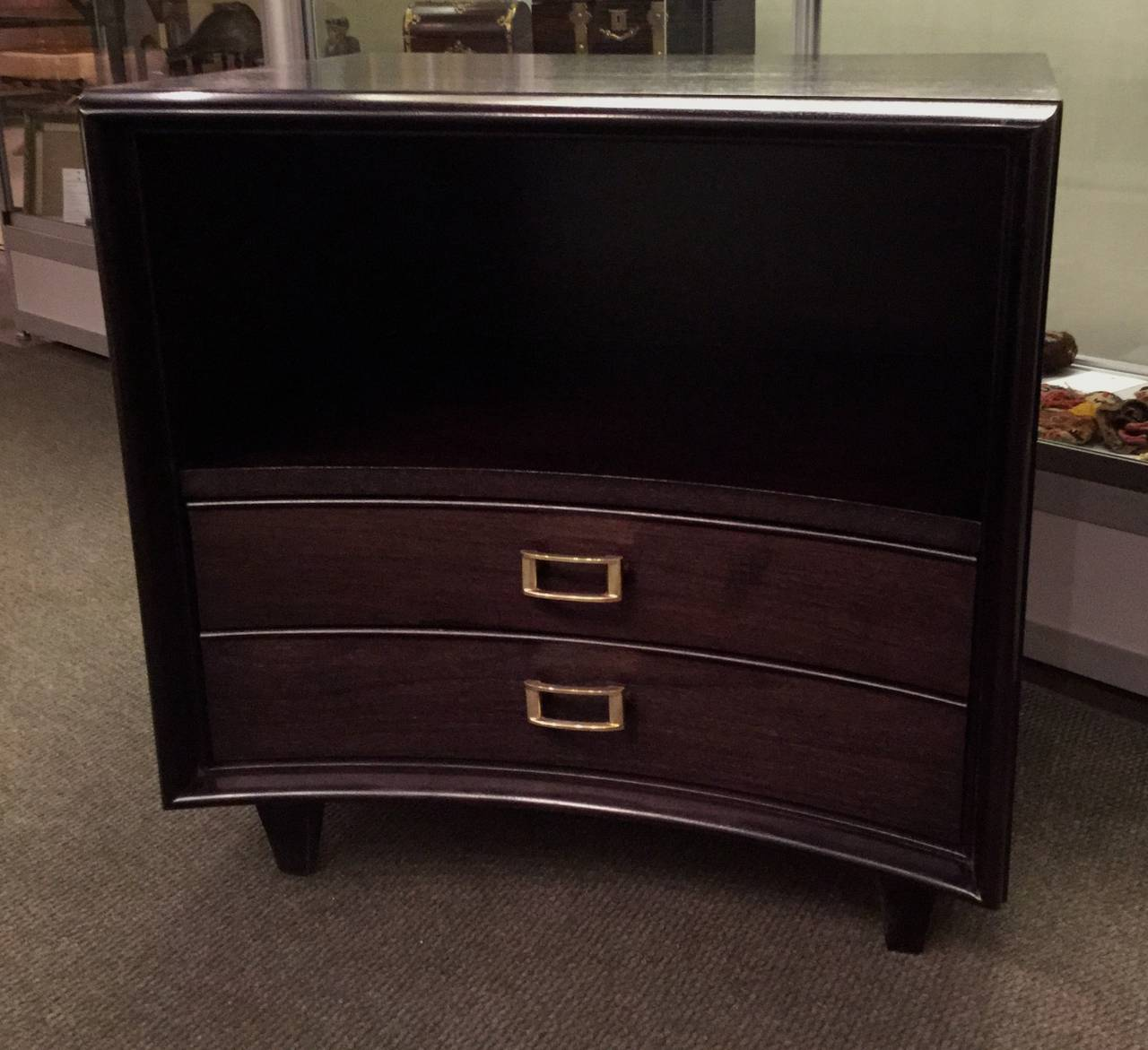 Pair of Ebonized Paul Frankl Nightstands or Chests 5