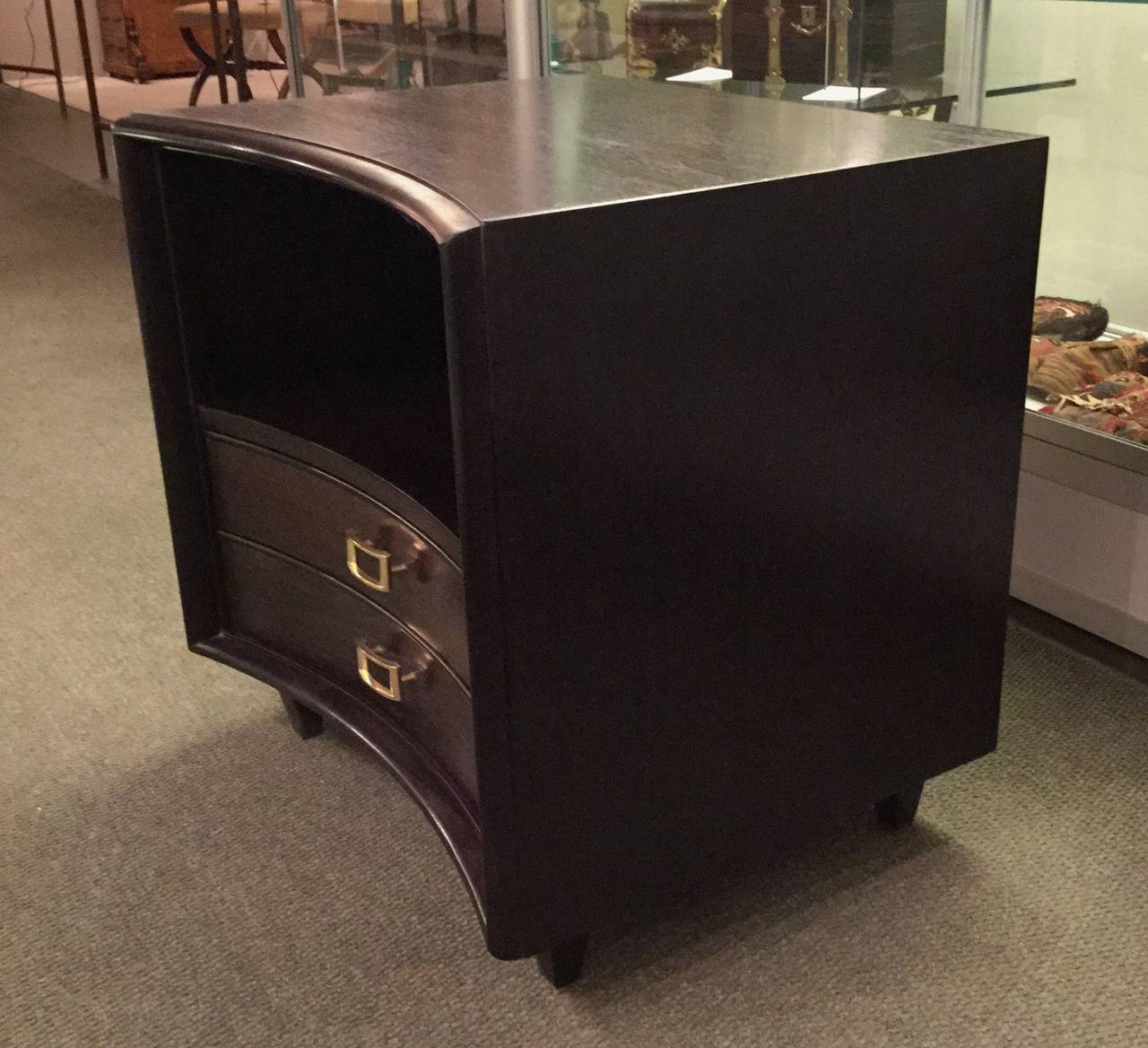Pair of Ebonized Paul Frankl Nightstands or Chests 4
