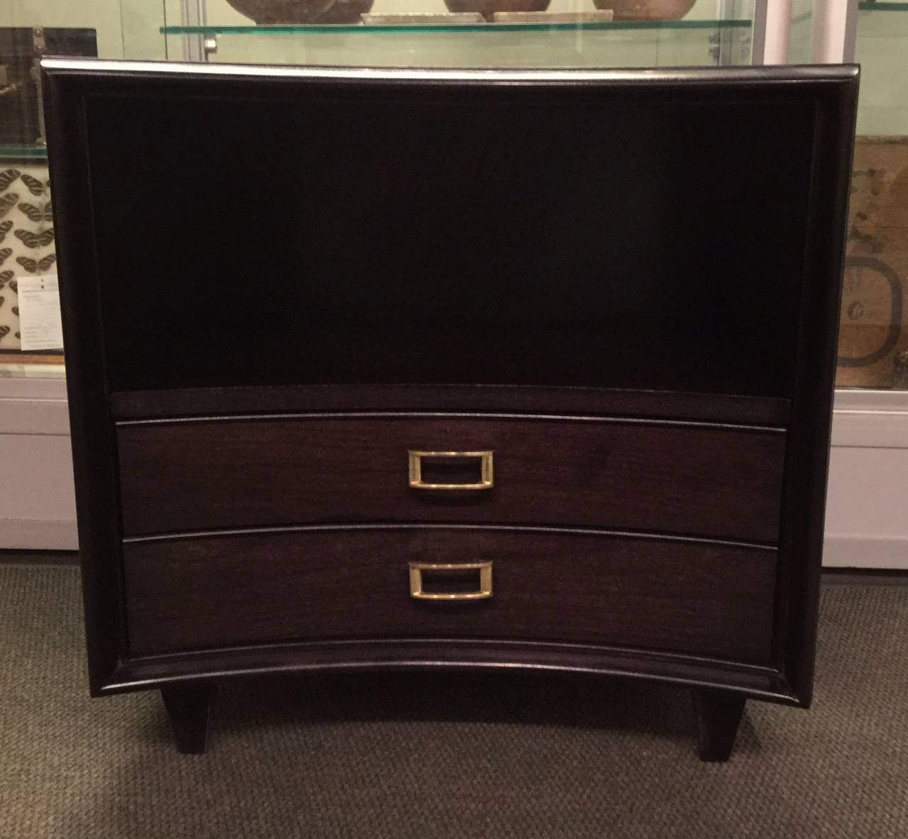 Pair of Ebonized Paul Frankl Nightstands or Chests 2