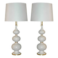 Pair Of Harlequin Tables Lamps By Gerald Thurston For Sale