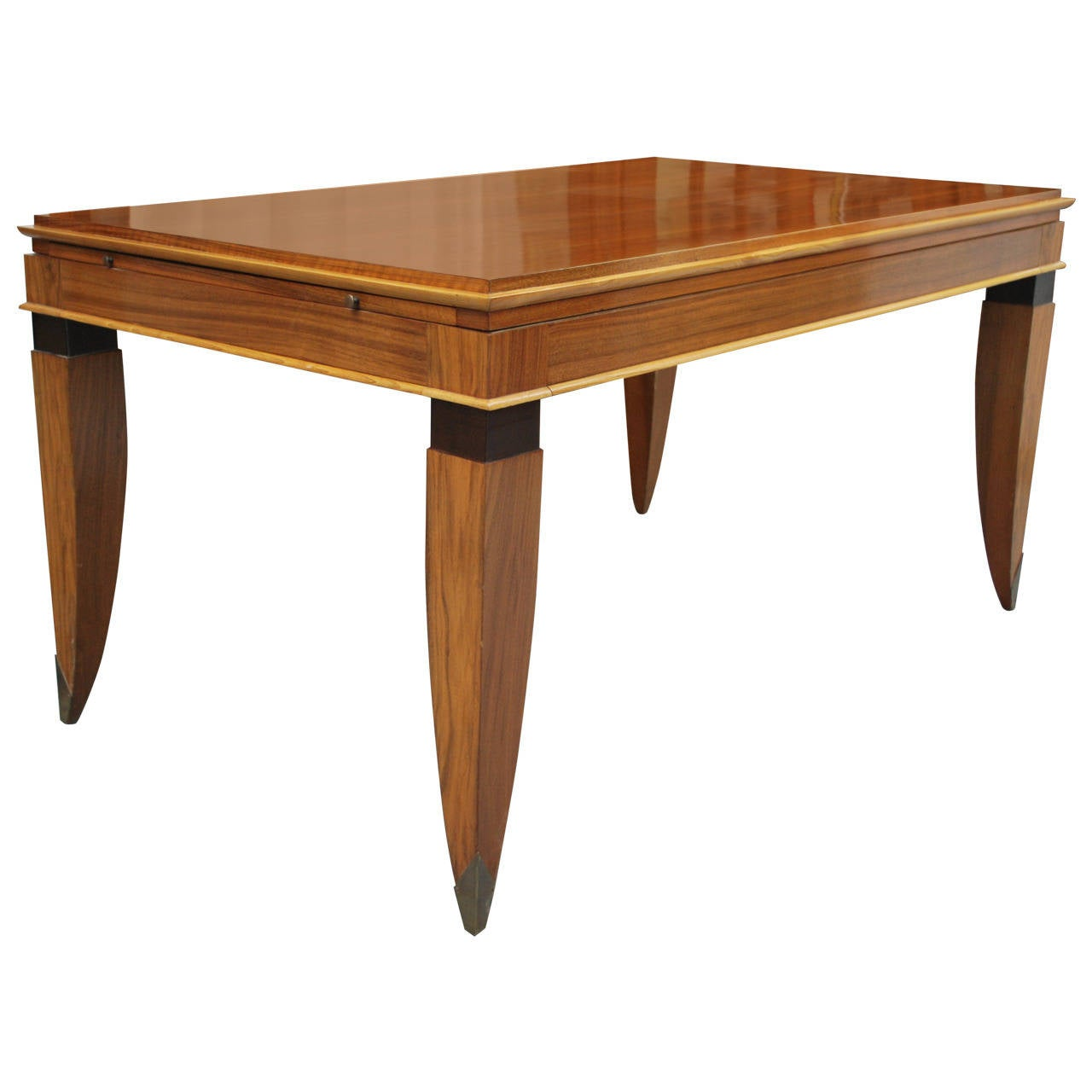 French Dining Or Library Table In The Style Of Leleu For