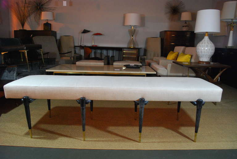 Extra Long Cerused Bench At 1stdibs