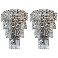 Large Scale Crystal Sconces