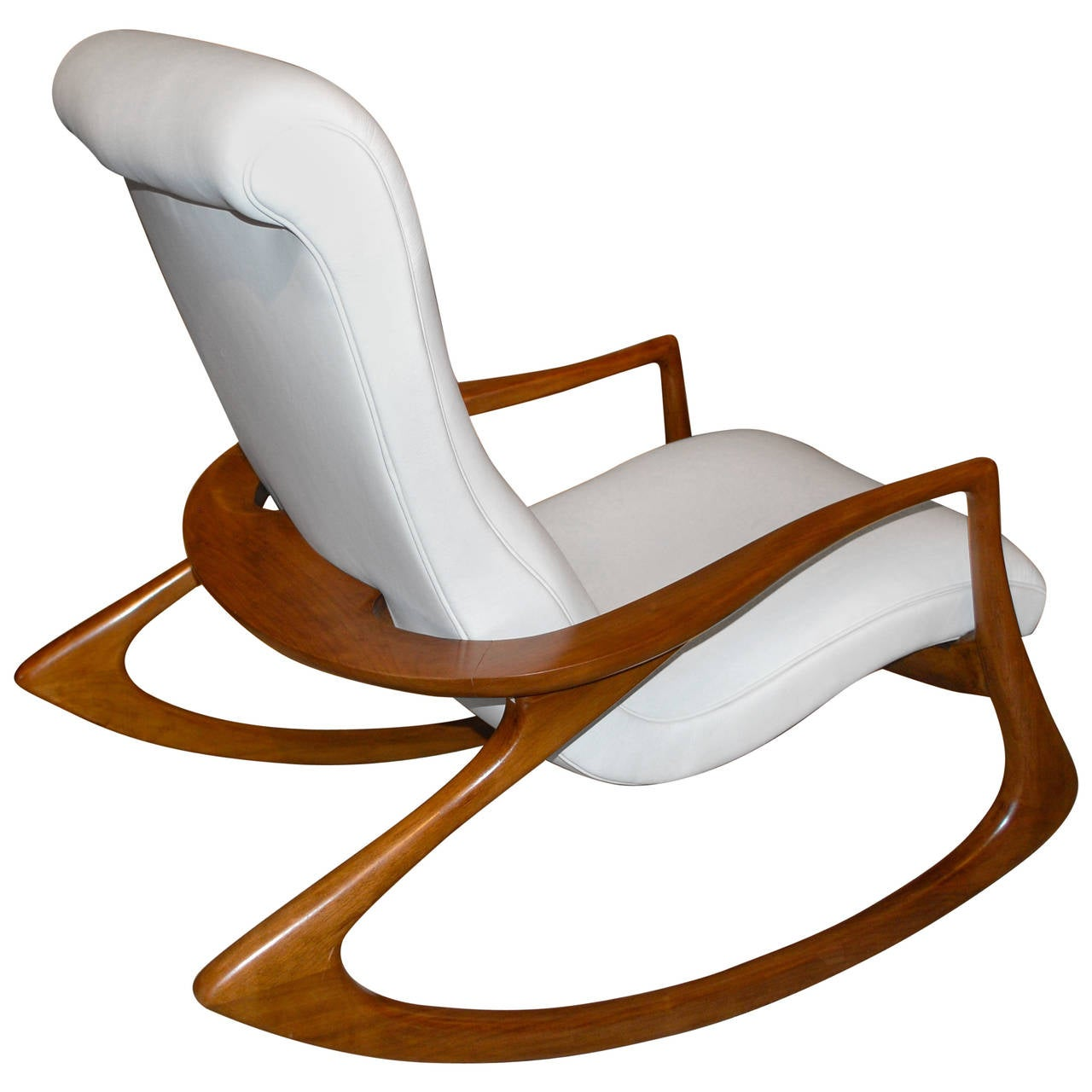 Vladimir kagan contour chair in leather for sale at 1stdibs for Rocking chair