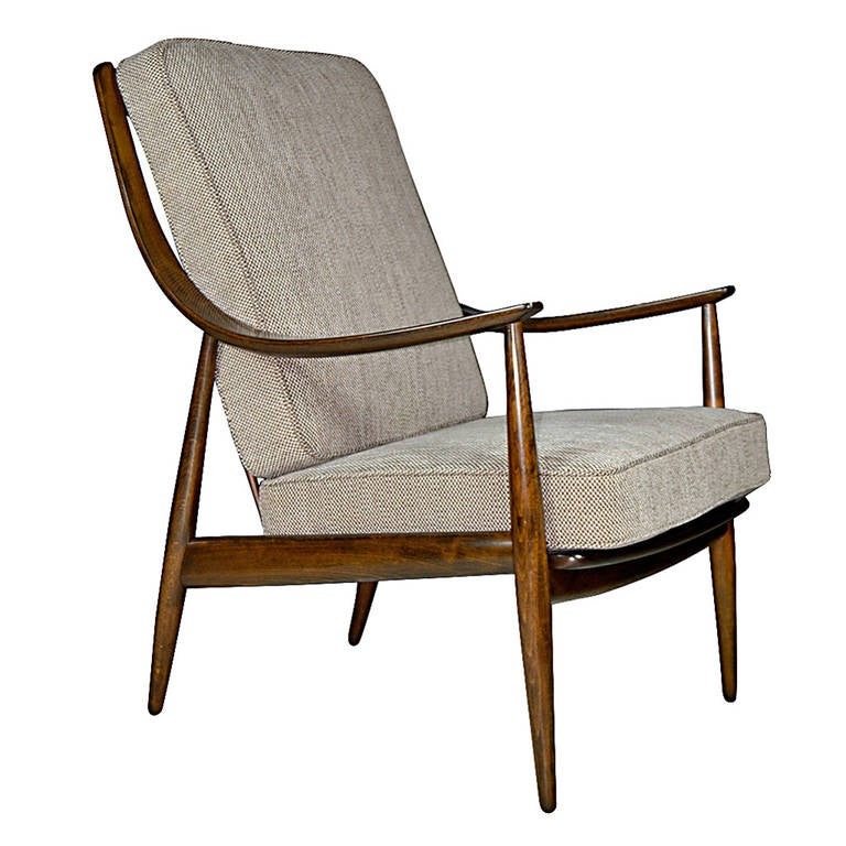 Peter hvit highback library lounge for sale at 1stdibs - Library lounge chairs ...