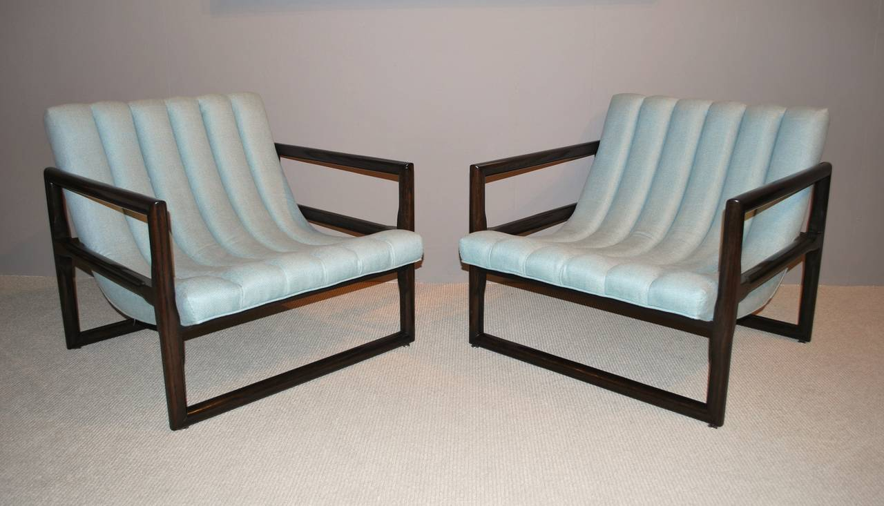 """Pair of Milo Baughman """"Cube"""" Lounge Chairs 2"""