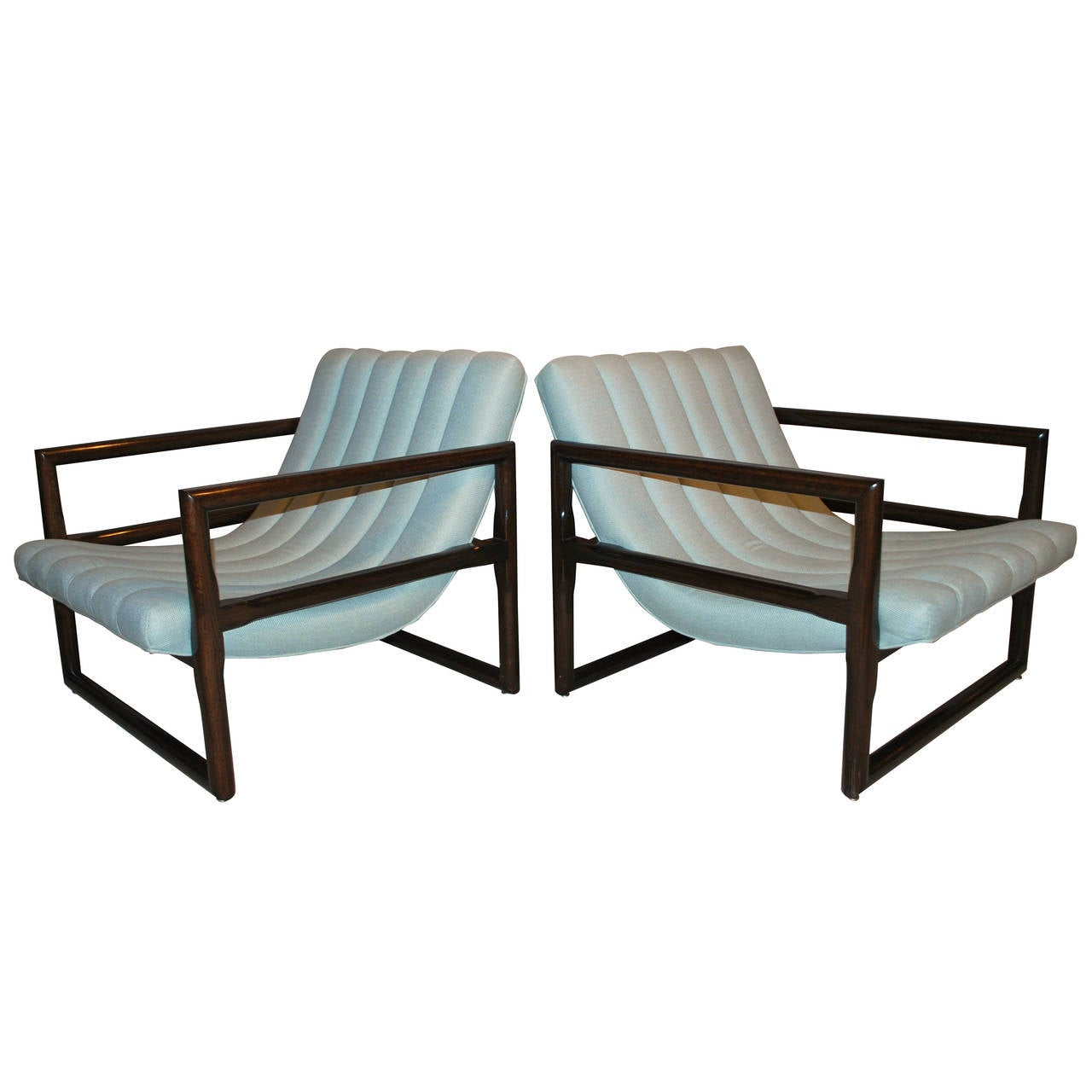"""Pair of Milo Baughman """"Cube"""" Lounge Chairs 1"""