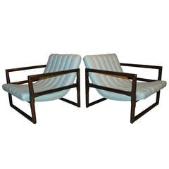 "Pair of Milo Baughman ""Cube"" Lounge Chairs"