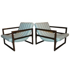 """Pair of Milo Baughman """"Cube"""" Lounge Chairs"""