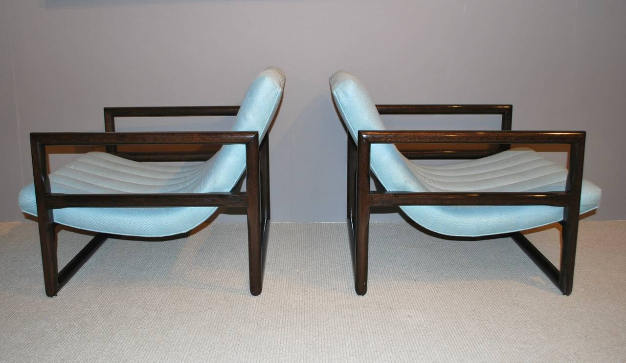 """Pair of Milo Baughman """"Cube"""" Lounge Chairs 3"""
