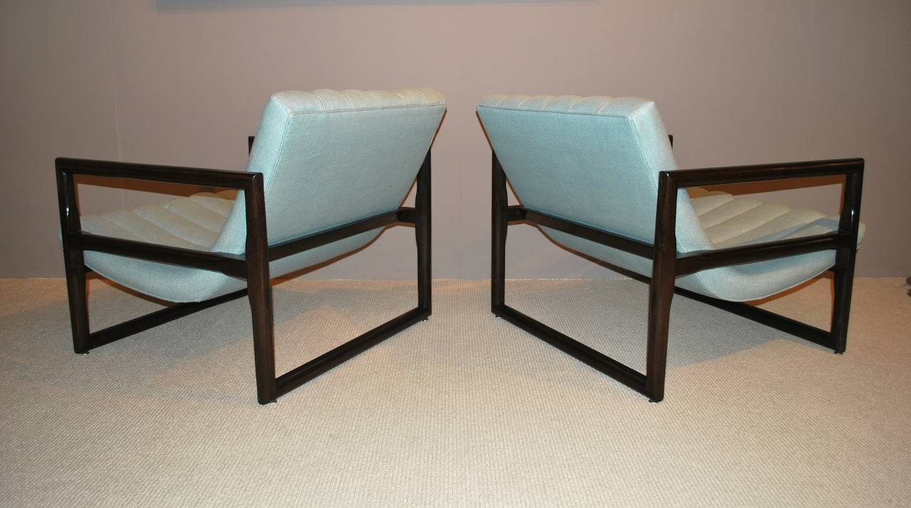 """Pair of Milo Baughman """"Cube"""" Lounge Chairs 4"""
