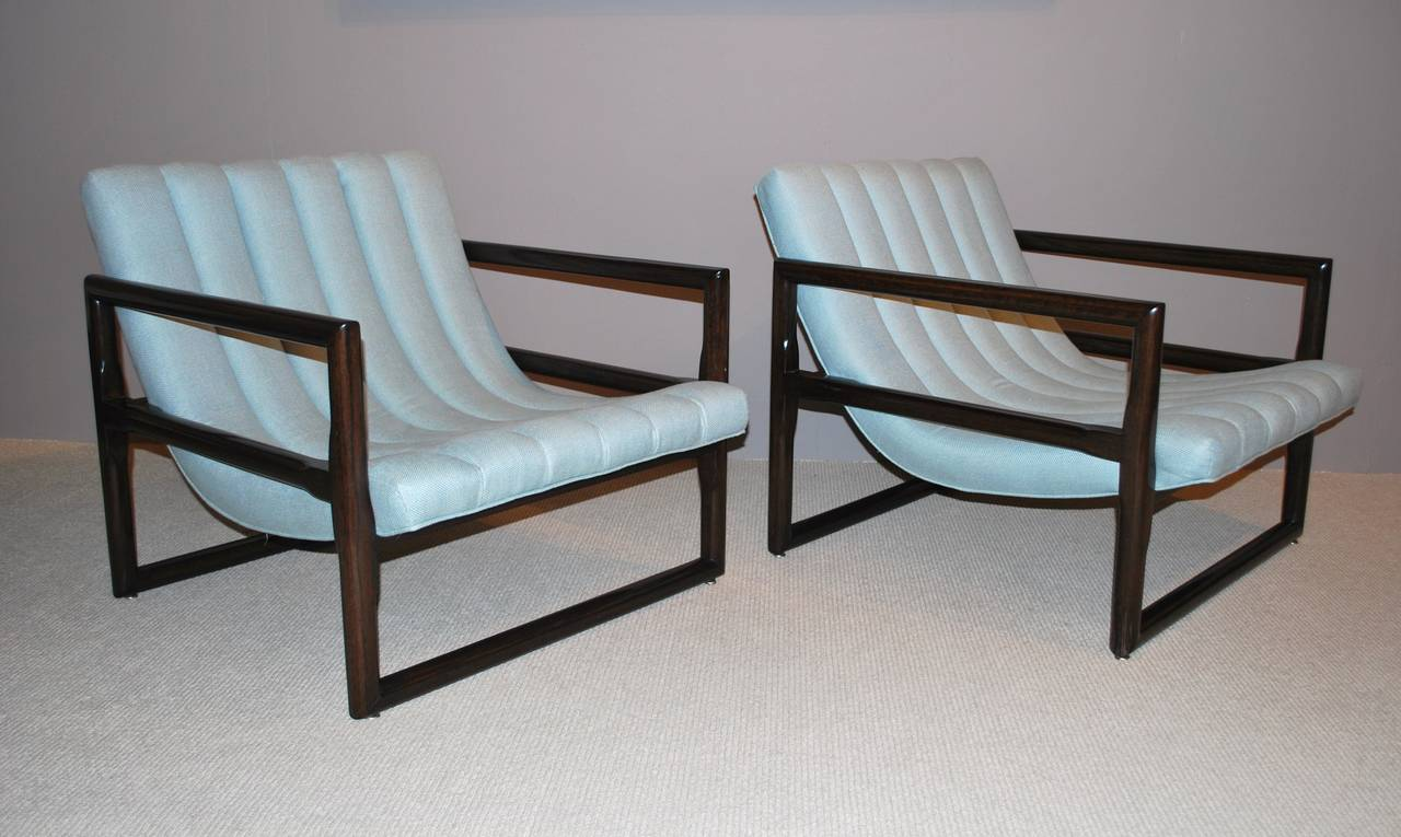 """Pair of Milo Baughman """"Cube"""" Lounge Chairs 9"""