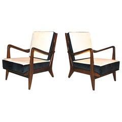 Pair of Gio Ponti Armchairs, Italy, 1950s