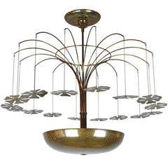 """Paavo Tynell """"Snowflake"""" Chandelier, 1950s"""
