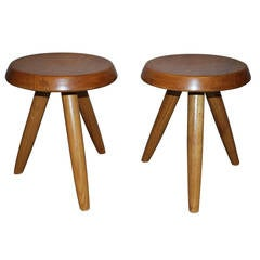 Pair of Charlotte Perriand Stools for Steph Simon