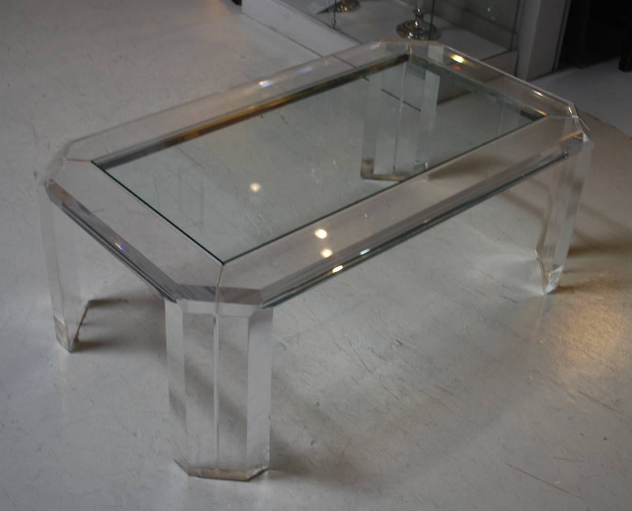 Lucite Coffee Table At 1stdibs