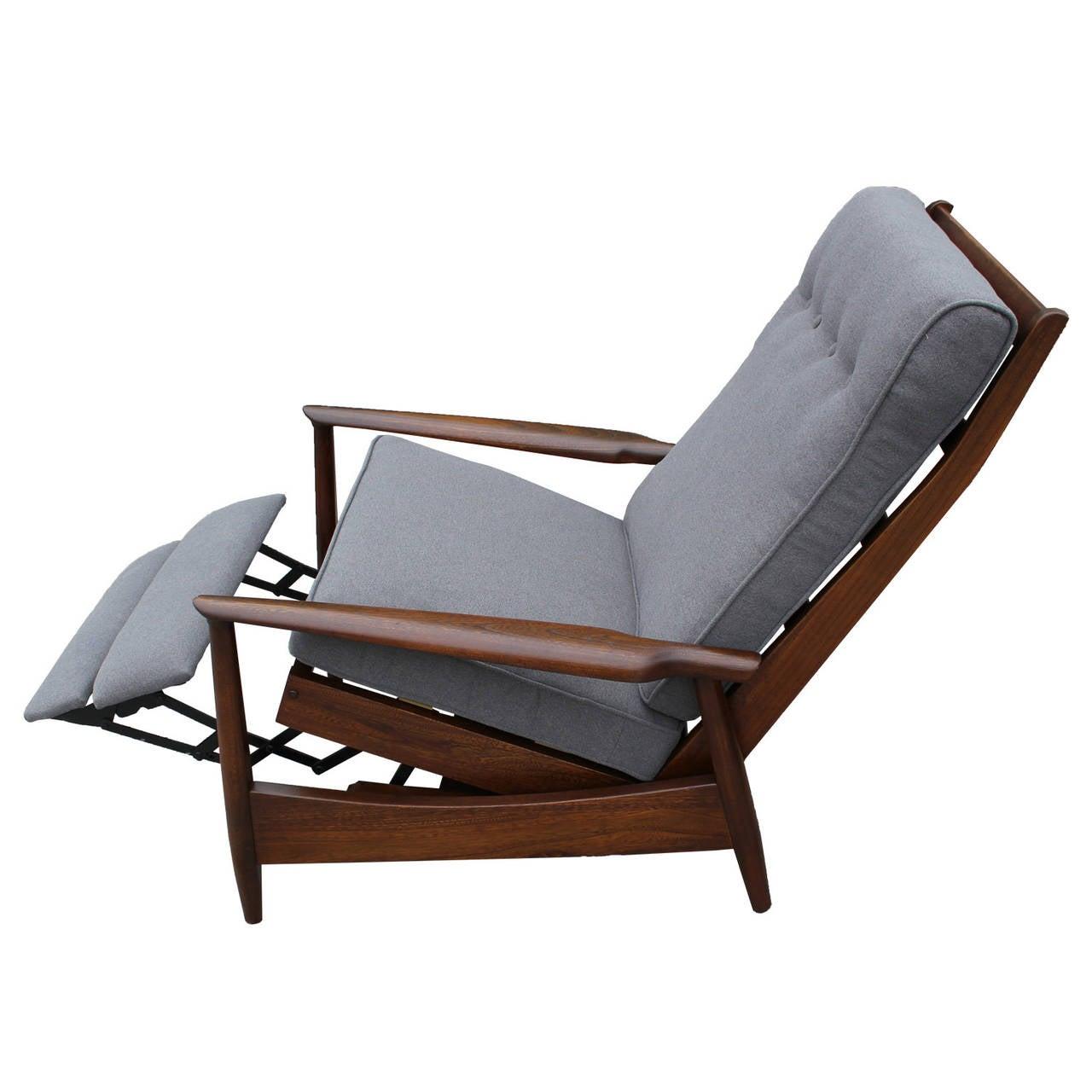 Scandinavian reclining lounge chair at 1stdibs for Chair recliner