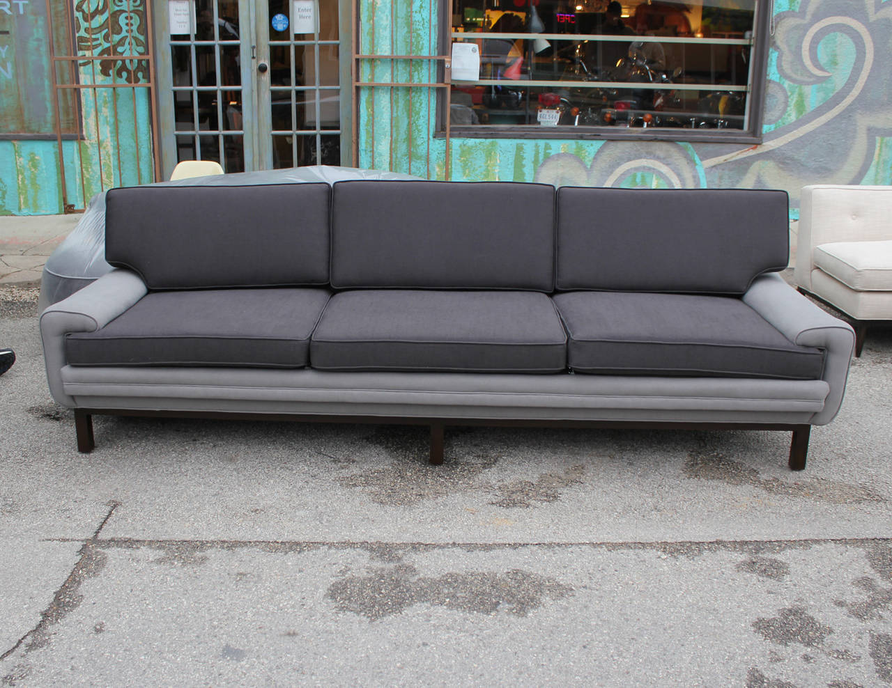 Interesting Two Tone Sofa At 1stdibs