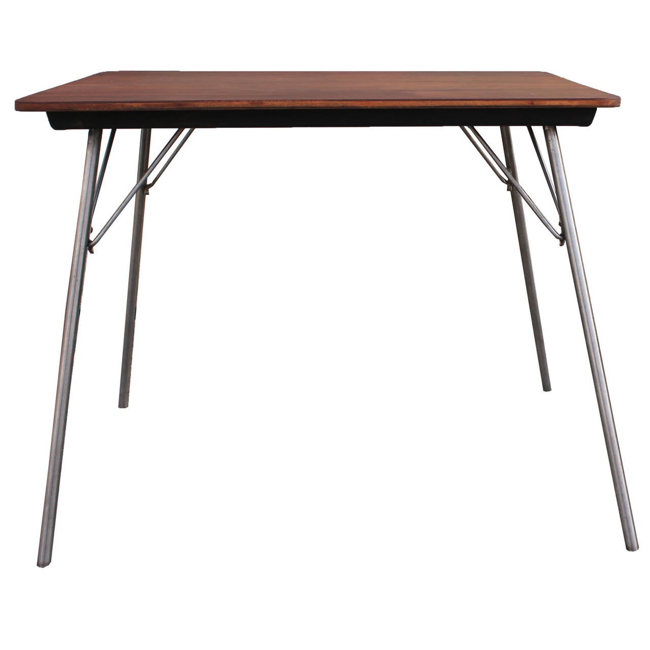 rare eames for herman miller it  incidental table walnut at stdibs - rare eames for herman miller it  incidental table walnut