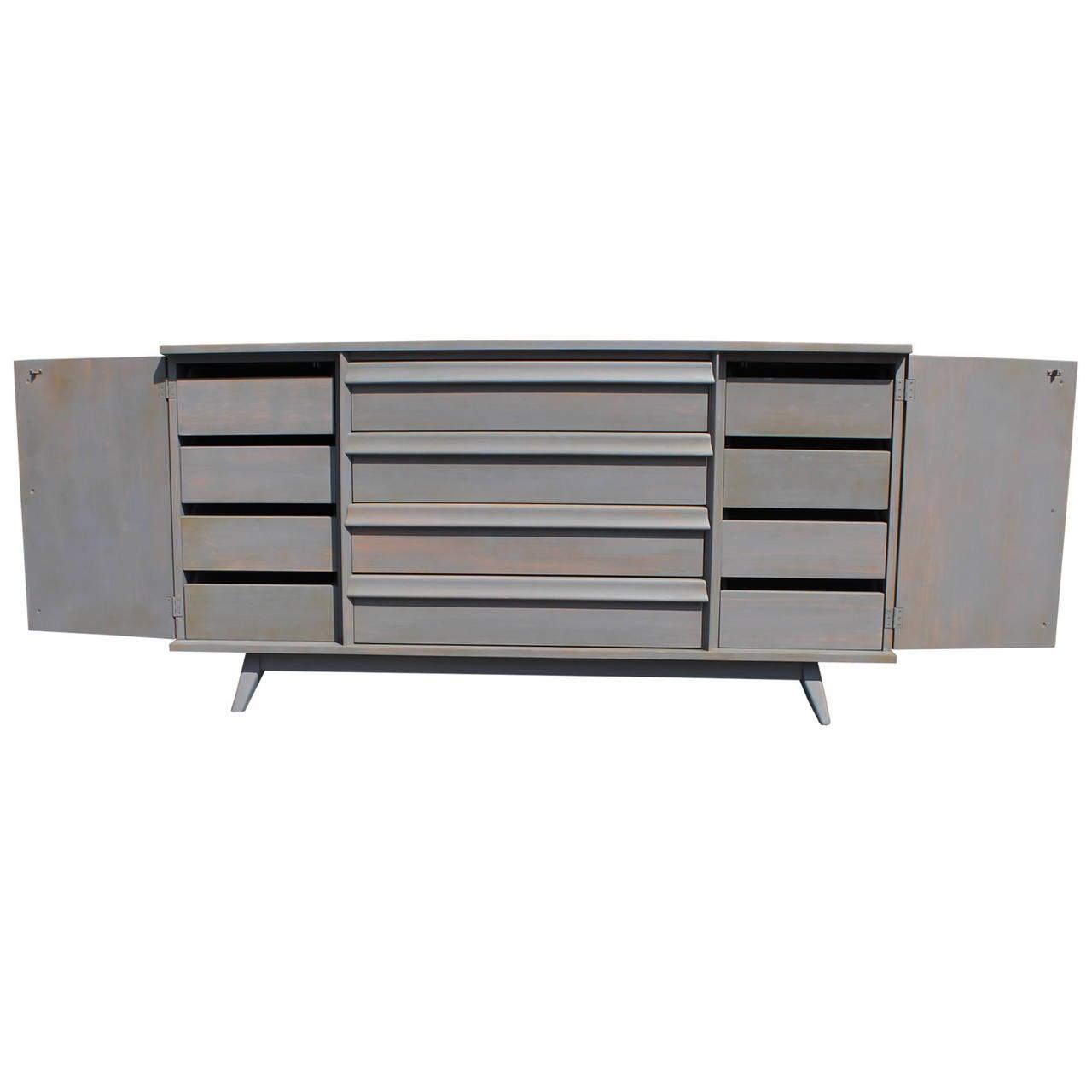 excellent grey washed modern twelvedrawer dresser at stdibs - excellent grey washed modern twelvedrawer dresser