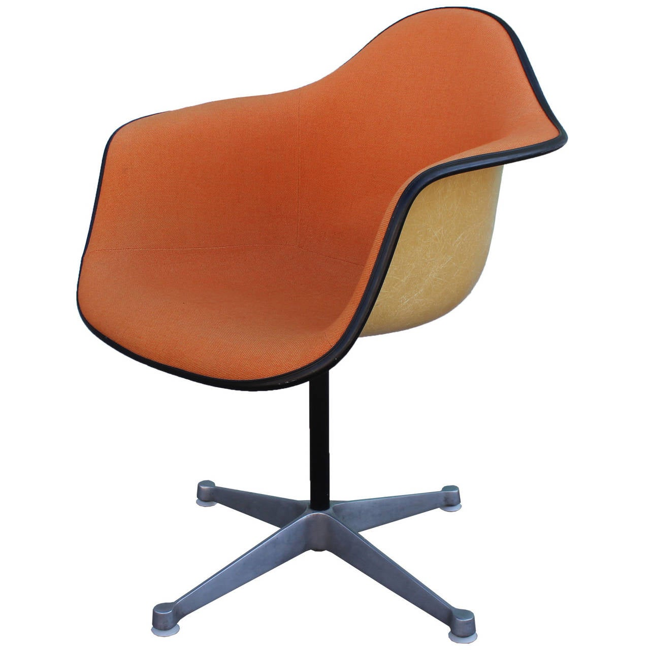 Pair Of Herman Miller Eames Swivel Bucket Chairs At 1stdibs