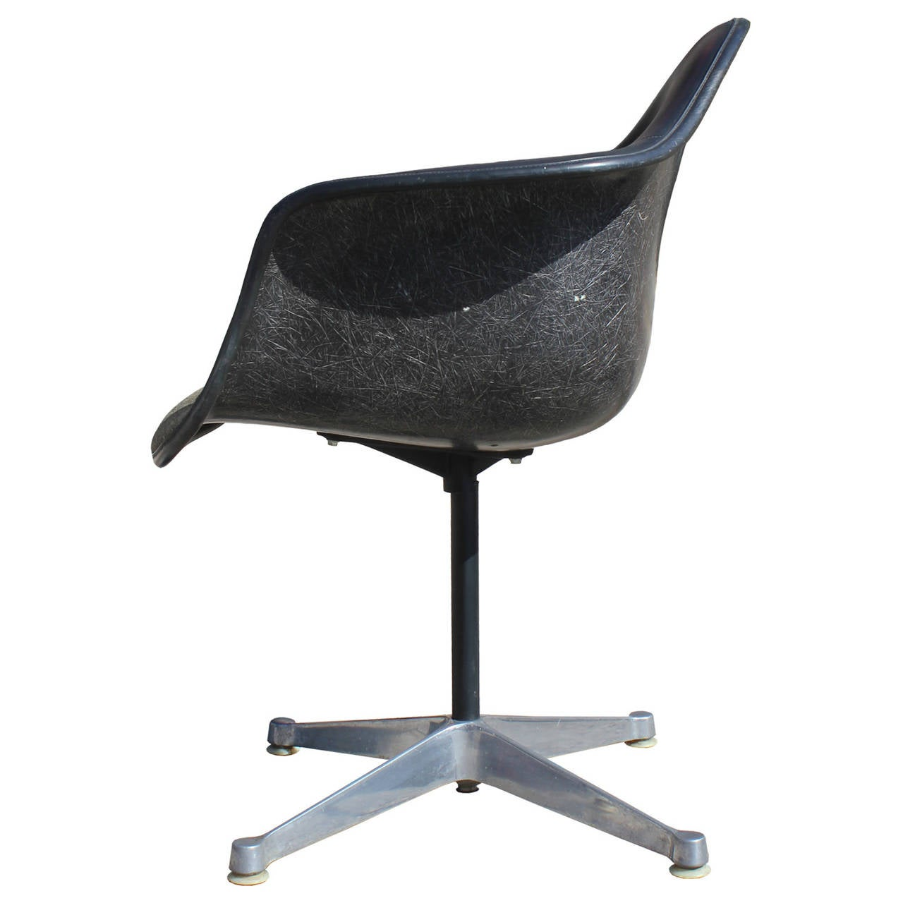 Set Of Four Herman Miller Eames Swivel Bucket Chairs At