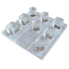 Incredible Van Teal Lucite Tic Tac Toe Set