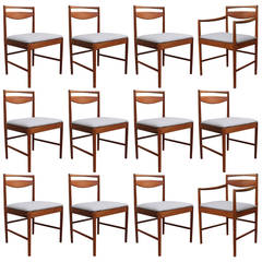 Set of Twelve Solid Teak McIntosh Dining Chairs